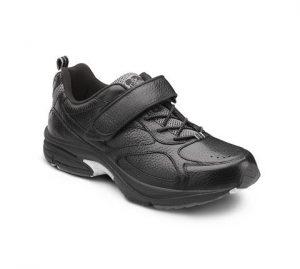 walking shoes diabetes men dr. comfort black