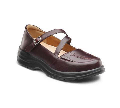 4270-Betsy Burgundy Velcro-1