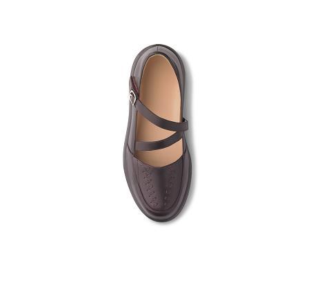 4270-Betsy Burgundy Velcro-2