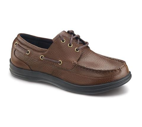 a1100m-Classic Lace Boat Shoe Brown-1
