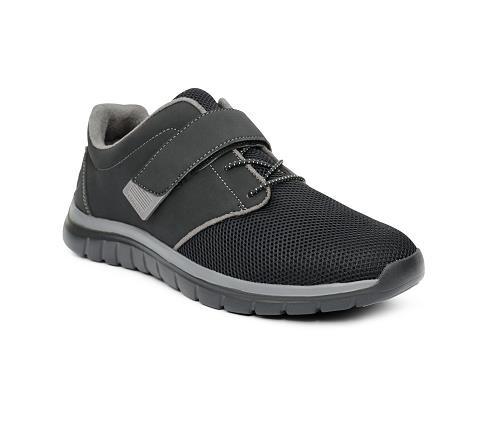 m046:black:grey-Sport Jogger-Velcro-1