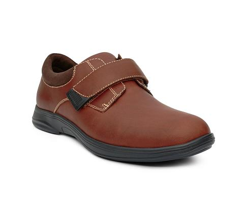 m064:whiskey-Casual Comfort-Velcro-1