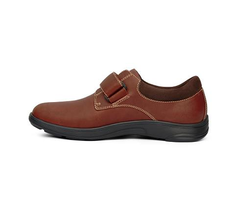 m064:whiskey-Casual Comfort-Velcro-4