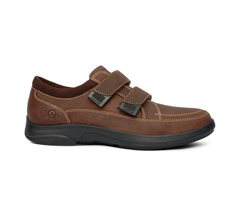 m096:brown-Casual Sport-Velcro-3