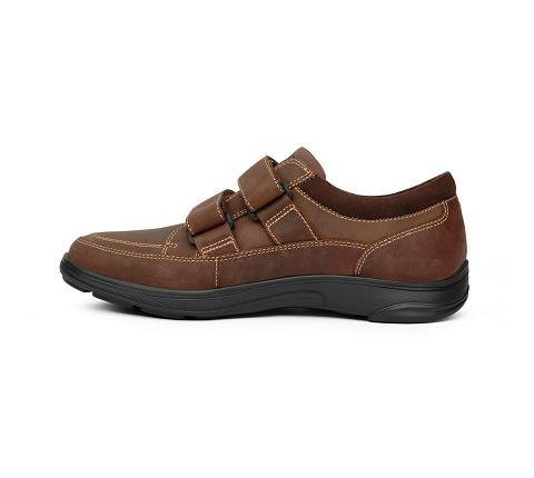 m096:brown-Casual Sport-Velcro-4