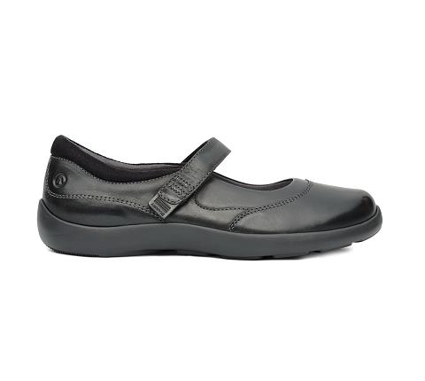 w019:black-Casual Mary Jane-Velcro-3