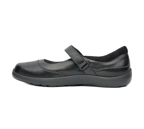 w019:black-Casual Mary Jane-Velcro-4