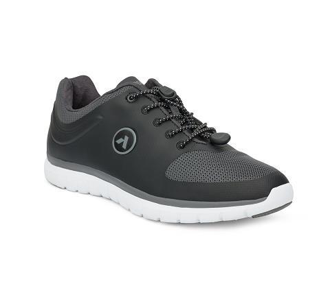 w023:black:grey-Sport Runner-Lace-1