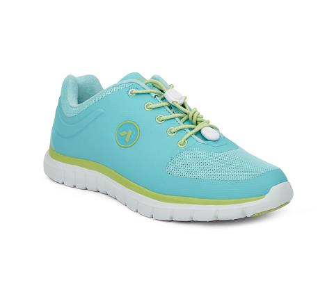 w023:teal:lime-Sport Runner-Lace-1