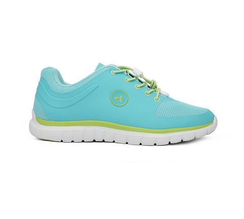w023:teal:lime-Sport Runner-Lace-3