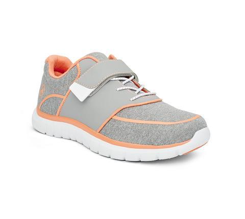 w045:grey:orange-Sport Jogger-Velcro-1