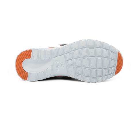 w045:grey:orange-Sport Jogger-Velcro-2