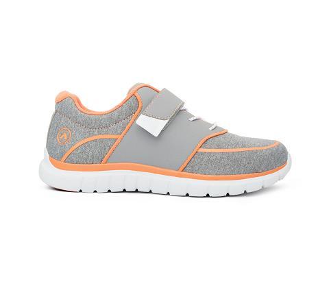 w045:grey:orange-Sport Jogger-Velcro-3