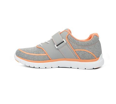 w045:grey:orange-Sport Jogger-Velcro-4