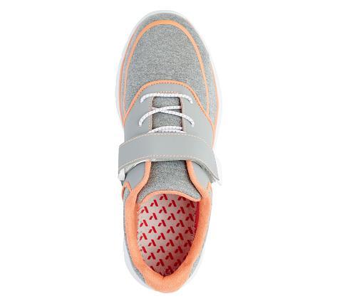 w045:grey:orange-Sport Jogger-Velcro-5
