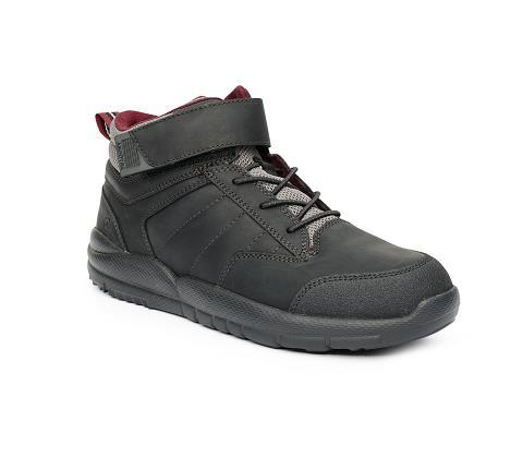 w055:black-Trail Boot-Velcro-1