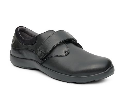 w063:black-Casual Comfort Stretch-Velcro-1