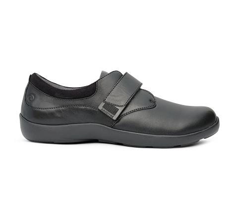 w063:black-Casual Comfort Stretch-Velcro-3
