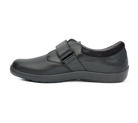w063:black-Casual Comfort Stretch-Velcro-4