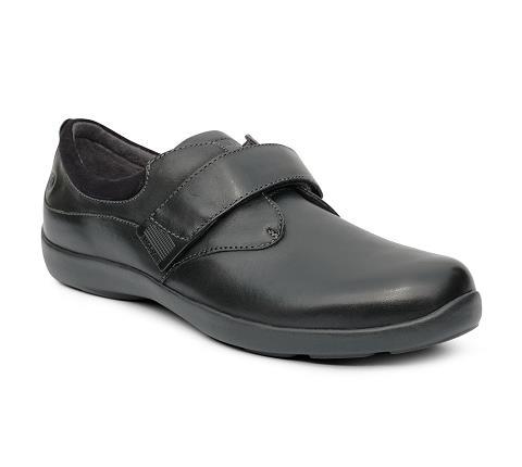 w067:black-Casual Comfort-Velcro-1