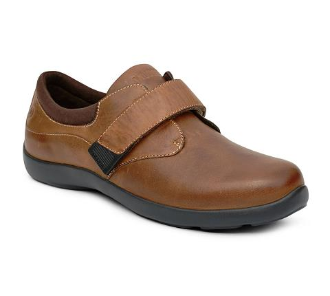 w067:chocolate-Casual Comfort-Velcro-1